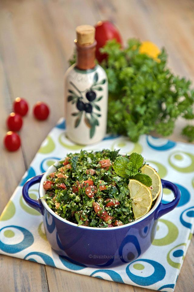 tabouleh salata libaneza de patrunjel v