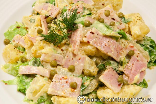 salata-picanta-de-cartofi-cu-sunca