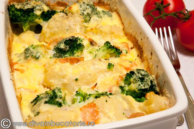 gratin-de-conopida,-broccoli-si-somon