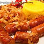 Varză murată călită cu bacon si carnati