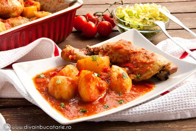 tocanita-ungureasca-de-pui-cu-cartofi