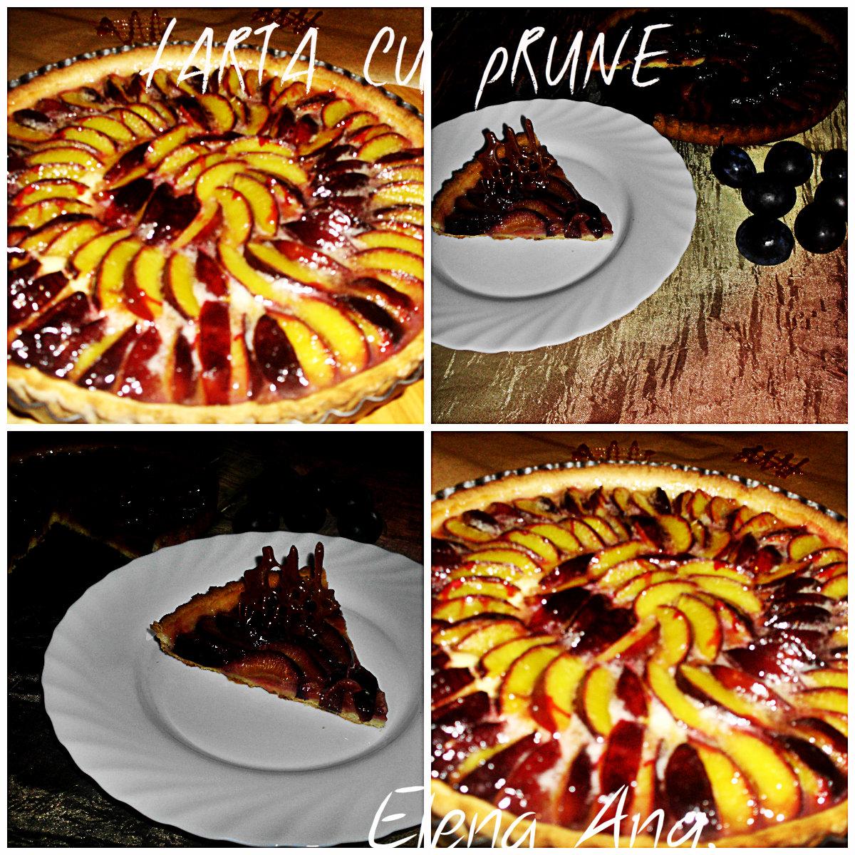 collage tarta prune