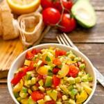 salata guacamole-salata de avocado cu rosii