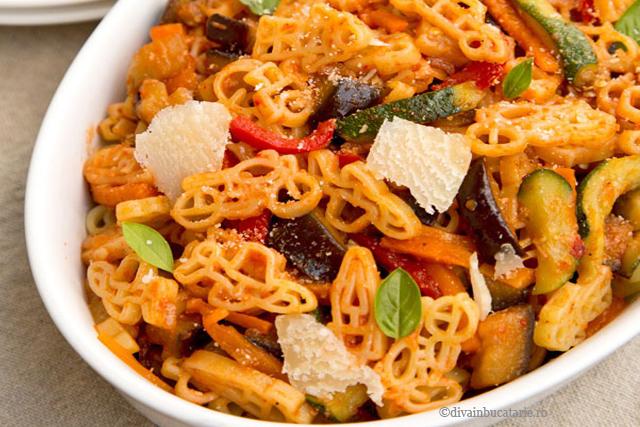 paste cu legume - pasta verdure - diva in bucatarie
