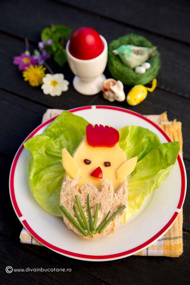 sandvis-haios-de-paste-pentru--copii-pui-din-ou