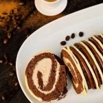 Rulada de cacao cu crema de mascarpone si cafea diva in bucatarie