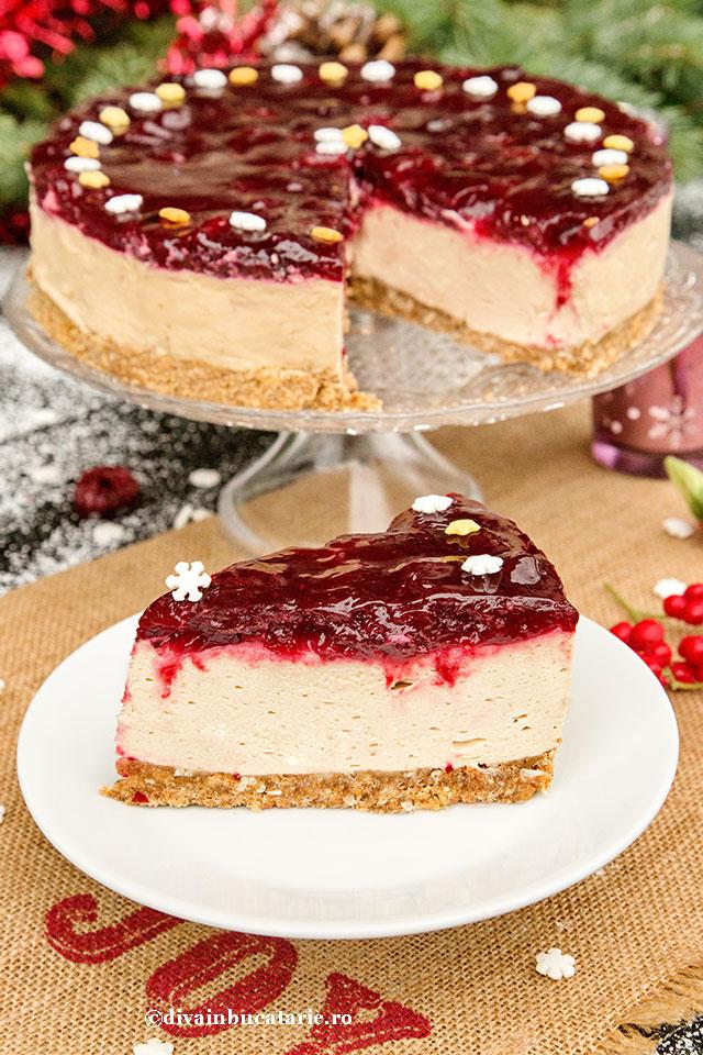 cheesecake-speculoos-cu-visine-felie-otet-balsamic-ponti