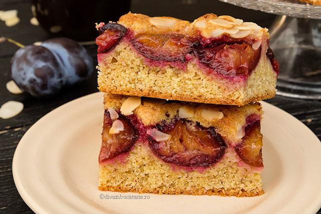 prajitura cu prune si migdale diva in bucatarie