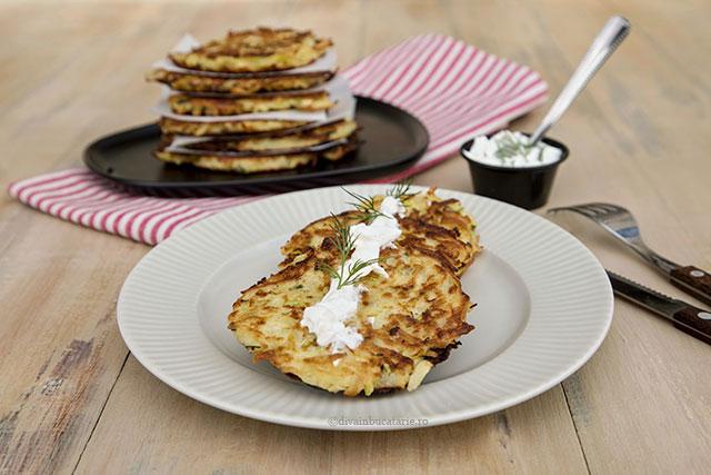 pancakes din cartofi si dovlecei