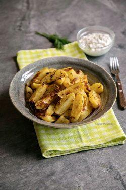 cartofi cu lamaie si usturoi la cuptor diva in bucatarie
